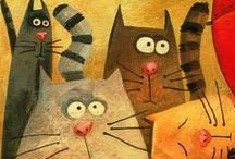Fun Cat Art / by Patty Russes