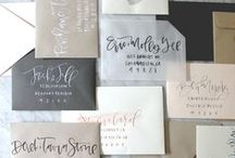 Stationery / Pretty printed items: hand lettered envelopes, simple invitations, modern birth announcements, birthday invitations, thank you notes.