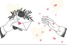 epistolaire / writing letters, sending love