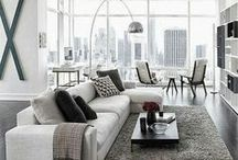 Contemporary Styling / Ideas for decorating in a sleek, casual and eclectic style.