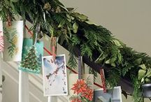 Display your Christmas cards / There are so many ways to do this....here are just a few...