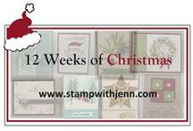 Christmas Cards - Stampin' Up! / Making your own Christmas cards is fun and easy.  Here's some of my favourite ideas.