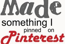 Pinned it, did it, loved it / Pins I've tried myself and am proud to have shared / by Sherry VanFossen