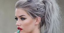 Stunning Silver Grey Hair colors and Styles / For the Silver Fox in you....