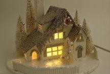 Glitter/Putz Houses