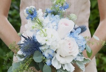 Jessica & Matt / August 2013 - wildflowers, locally grown, informal, - tipi and heritage bus wedding - blues, navy, silvers and greys