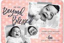 #babygirljohnson birth announcements / by Heather Johnson