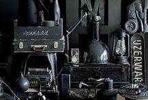 Mood Board - Black / Moodboard and design inspiration - black color palette