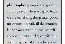 giving grace / from the beginning, we have believed in giving back to our community and worthwhile causes / by philosophy