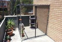 Catio / Ideas for building a little catio for Layla and Arya on the terrace!