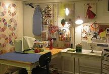 Home: Sewing Room Inspiration / Sewing room organization / by Michael Schneider