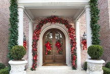 "Christmas Decorating for your Front Door / Whether it is Christmas, Halloween, Valentines, or your daily style, there's nothing better than an entrance that goes ""wow""."