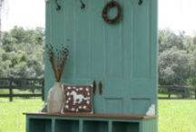 Repurpose & Reuse / My husband has found used in our home and garden for old pallets, old picket fences, a satellite  dish (roof of a gazebo), windows, and doors. Most of what he finds is free. I need more ideas!