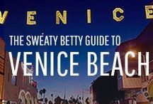 The Sweaty Betty Guide to Venice Beach / A beautiful rose gold glow over miles of honey sand. Vibrant Latin American influence and flashes of bare skin. Everyone running, cycling or skateboarding along the boulevard, ambling between juice bars and beachside cafes. Venice Beach and the casual active lifestyle it commands was a significant source of inspiration for the new Tomboy collection. Sweaty Betty's team on the ground is here to share some of our favourite Venice Beach stomping grounds…
