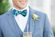 Grooms & Groomsmen / Groom + groomsmen fashion in all shapes and sizes.