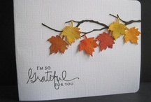 CARDS (Fall/ Thanksgiving) / Cards & embellishment ideas
