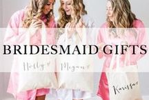 Bridesmaid Gifts / Bridesmaid Gifts She'll love, love, love! A curated collection featuring everything from 'getting ready,' robes to jewelry to keepsakes and beyond!