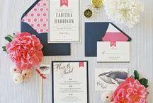 Pink  + Navy Blue Weddings