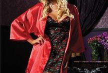 Robes and Robe Sets at Naughty and Nice Lingerie / Cover-ups, wraps, robes, robe sets and sleepwear, great for lounging, travel, after shower or anytime.  Famous makers such as Dreamgirl, Naughty and Nice Lingerie (aka Seven 'Til Midnight) and more famous makers.