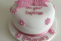 Christening and baby shower cakes / Celebration Cakes for christenings, naming ceremonies and baby showes