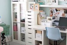Office/Filming Space / Inspiration for my tiny office/filming space/guest bedroom!