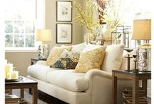 Beautiful Rooms--Family/Living rooms / Pretty family room and living room ideas that I love! / by Kara Cook (Creations by Kara)