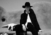 Slightly Western Travel Wear / felt hats, menswear details, leather, canvas, adventure / by Christina Wu