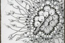 Zentangle 3 / Tangle or doodle art