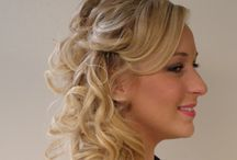 Bridal and Wedding Hair Creation / This Bridal Hair style Creation is made complete with hi-lights & clip-in extensions. The natural hair blending perfectly with 14 inch hair extensions that are curled and braided. This Updo Style was created by Stylist Mylinda Dodson-Hoard. The Hair Extensions were applied by Cindy Toms and Mylinda Dodson-Hoard