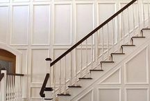 Wainscoting, moldings...DIY / Ideas and designs to get you on your way...for moldings and wainscoting