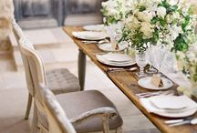 Tablescapes / A beautifully set table