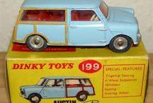 Die-cast models / Classic diecast model vehicles.  Meccano Dinky Matchbox Corgi