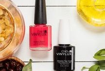 NEW CND VINYLUX / Colors that CARE for your nails! Meet the first long-wear polish, now infused with Jojoba Oil, Vitamin E & Keratin. The NEW CND VINYLUX delivers gel-like shine for a chip resistant 7-day wear.