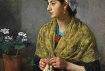 Knitting & Fiber Crafts in Art