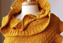 Knit Fashion Accessories / Original designs by Elena Rosenberg - http://www.ElenaRosenberg.com.  Elegant, luxurious, and modern hand-knit fashion accessories and clothing.