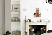 mantle/fireplace / by April Hickman