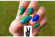 Nail Art Design / I am newly inspired nail art designer, and anything on the subject intrigues me.  I have become totally addicted to nail art design, and dream up designs in my head at night. Cosmetic beauty treatment for fingernails has got to be one of my favorite past times.