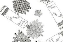 Zentangles and zendoodles  / Inspired and inspiring art and artists