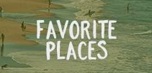 Favorite Places / Where we like to explore.