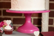 Hot Pink Wedding Cake Stands / The most gorgeous cake designs on Sarah's Stands Jewel of the Aisle (Hot Pink/Fuschia) cake stands. / by Sarah's Stands