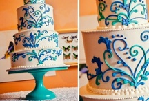 Teal Wedding Cake Stands / The most gorgeous cake designs on Sarah's Stands Sea of Love (Teal) cake stands. / by Sarah's Stands