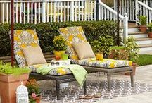 Outdoor Living Spaces / A girl can dream.