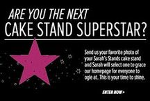 Cake Stand Superstars / Send us your favorite photo of your Sarah's Stands cake stand and you could be our next Cake Stand Superstar! Your photo will then grace the homepage of Sarah's Stands for everyone to ogle at. This is your time to shine. / by Sarah's Stands