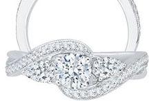 PROMEZZA ENGAGEMENT RING COLLECTION / Diamond engagement rings in 14 karat 18 karat rose gold and platinum