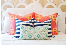 soft furnishings / add texture:  fabrics, cushions, window treatments, throws...