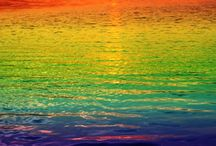 kaleidoscope of colour / multi-coloured: rainbow, spectrum, colour wheel