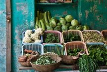 LETS GO TO THE MARKET... / Flea markets, Farmer markets, Flower markets, Food markets from around the world