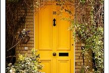 """front door / what a difference a front door makes: make an impression, make it bold and beautiful, in feng shui the front door is described as the """"mouth of chi"""" - the entryway for energy into your home."""