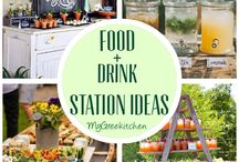 OUTDOOR PARTY IDEAS / Food & Drink stations, Table decor ideas, Birthdays, Weddings, Dinner Party