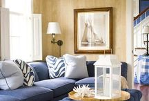 Yellow & Blue Living Room / Ideas for new house